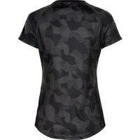 Newline Damen-Lauf-Shirt Black Camo Airflow Tee Woman 077328